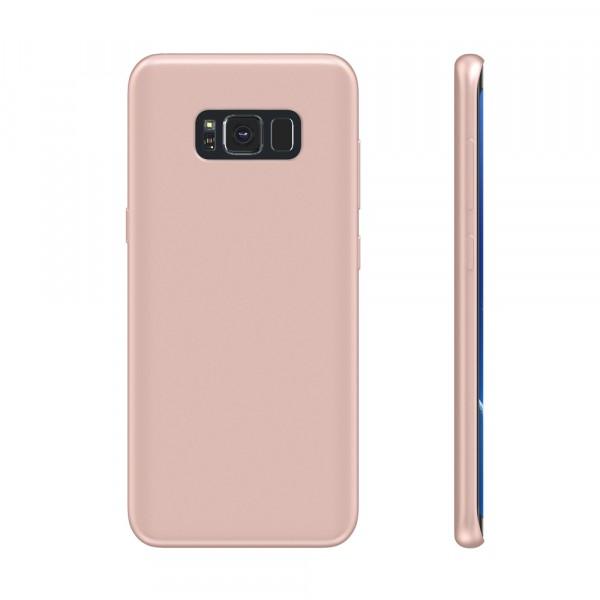 BeHello Premium Liquid Silicon Case Roze voor Samsung Galaxy S8+
