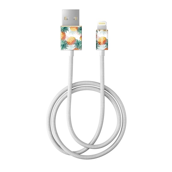 iDeal of Sweden Charge and Sync Lightning Fashion Cable 1m Pineapple Bonanza