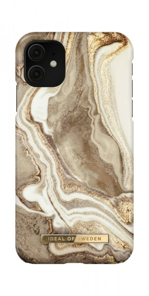 iDeal of Sweden iPhone 11 / XR Fashion Case Golden Sand Marble
