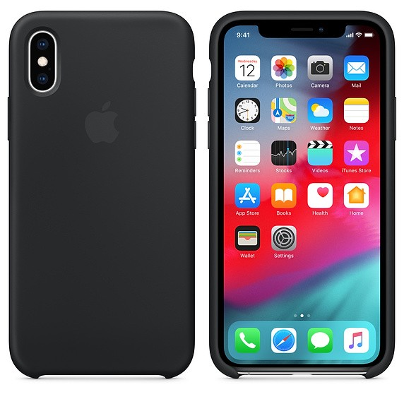Apple iPhone XS Back Case Silicone Black