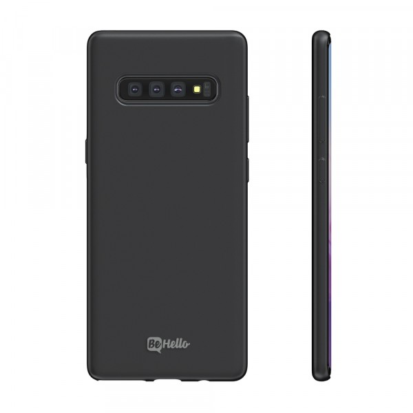 BeHello Premium Samsung Galaxy S10+ Liquid Silicone Case Black