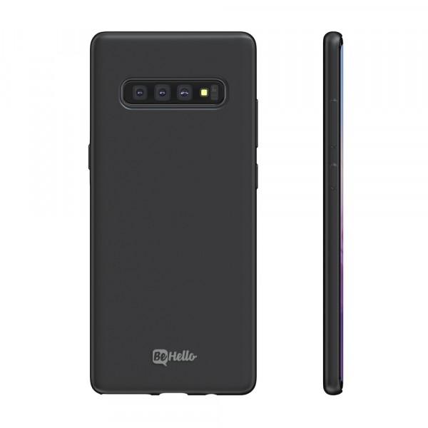 BeHello Premium Samsung Galaxy S10+ Siliconen Hoesje Zwart