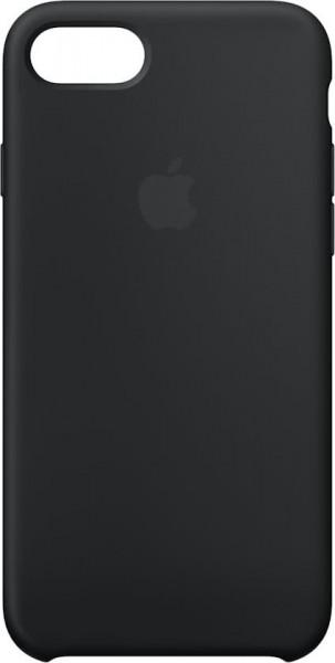 Apple Back Case Silicone Zwart voor iPhone 8 7