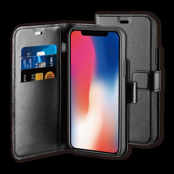 BeHello iPhone 11 Pro Max Hoesje - Gel Wallet Case Met Ruimte Voor 3 Pasjes Zwart