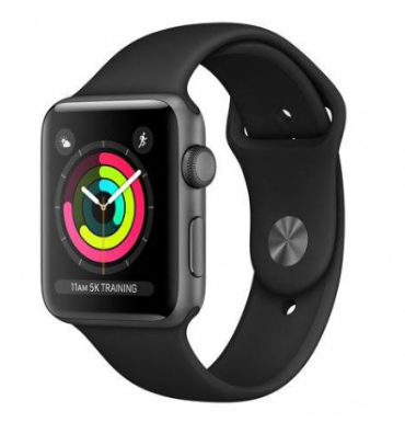 Apple Watch Series 3 42mm Space Grey with Black Sport Band