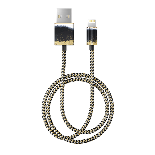 iDeal of Sweden Charge and Sync Lightning Fashion Cable 1m Gleaming Licorice