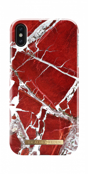 iDeal of Sweden iPhone XS Max Fashion Back Case Scarlet Red Marble