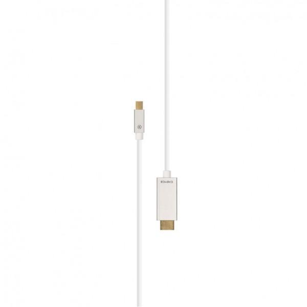 Cadyce Mini DisplayPort naar HDMI kabel | 4K Beeldkwaliteit | Audio Support | Plug & Play | 2 meter
