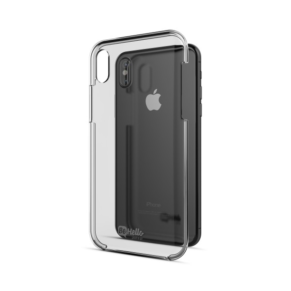 BeHello iPhone X XS Transparante Hoesje met Krasbestendige Coating - Back Case Transparant