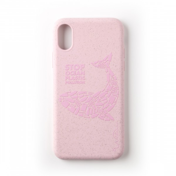 Wilma Smartphone Eco Case Bio Degradeable Tone-in-Tone Matte Whale Pink iPhone Xr