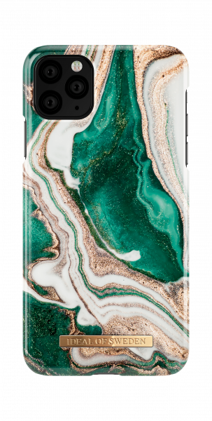 iDeal of Sweden iPhone 11 Pro Max Fashion Back Case Golden Jade Marble