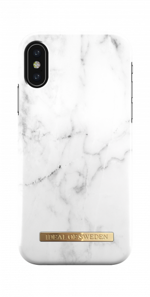 iDeal of Sweden iPhone XS/X Fashion Back Case White Marble