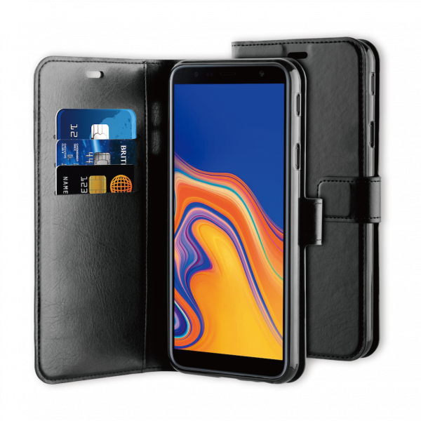 BeHello Samsung J4+ Gel Wallet Case Black