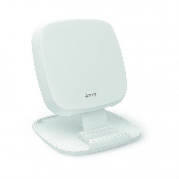 ZENS Fast Wireless Charger Stand Base 10W White