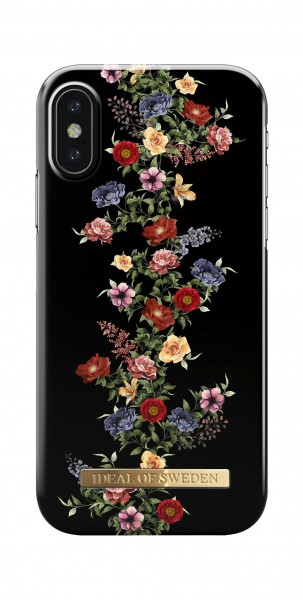 iDeal of Sweden Fashion Back Case Dark Floral voor iPhone X Xs