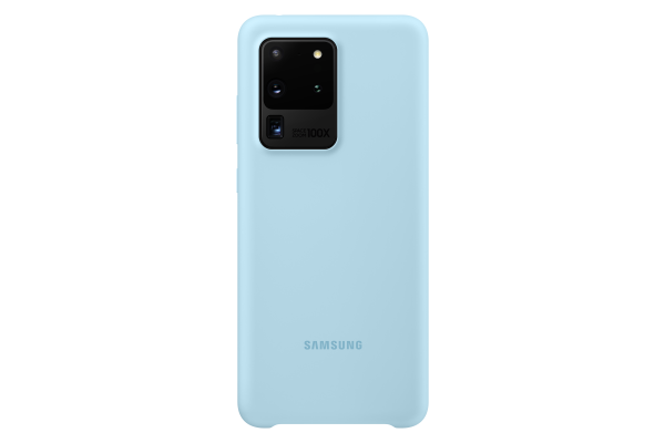 Samsung Galaxy S20 Ultra Silicone Cover Sky Blue