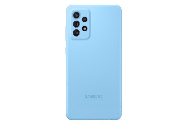 Samsung A72 Silicone Cover Case Blue