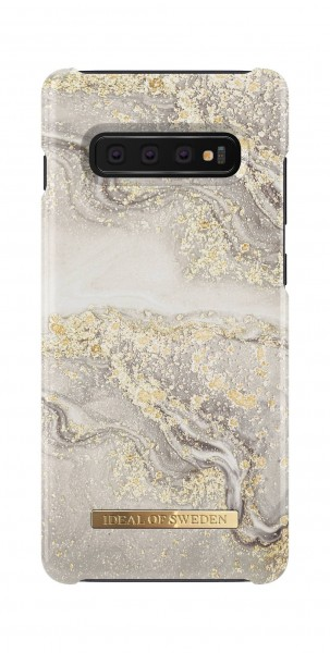 iDeal of Sweden Samsung Galaxy S10+ Fashion Back Case Sparkle Greige Marble