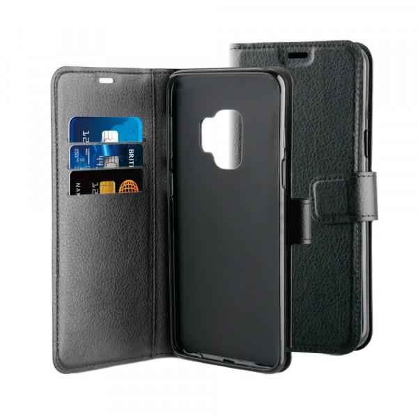 BeHello Samsung Galaxy S9 Hoesje - Gel Wallet Case Met Ruimte Voor 3 Pasjes Zwart