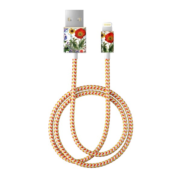 iDeal of Sweden Charge and Sync Lightning Fashion Cable 1m Flower Meadow