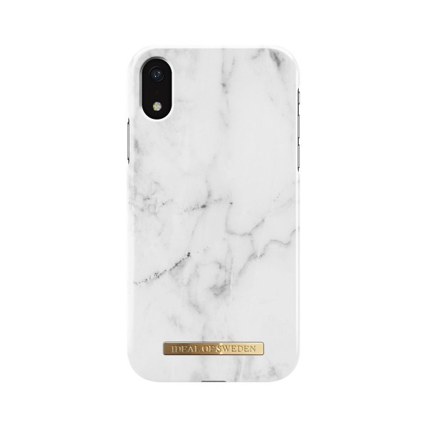 iDeal of Sweden iPhone Xr Fashion Back Case White Marble
