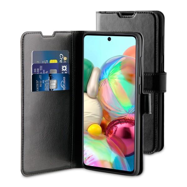 BeHello Samsung Galaxy A71 Hoesje - Gel Wallet Case Met Ruimte Voor 3 Pasjes Zwart