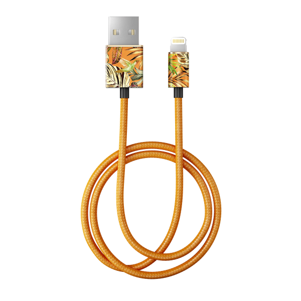 iDeal of Sweden Charge and Sync Lightning Fashion Cable 1m Mango Jungle