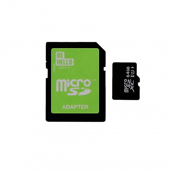 BeHello Micro SDXC Class 10 met Adapter 64GB