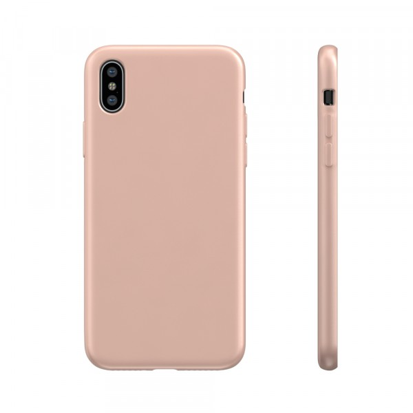 BeHello Liquid Silicon Case Roze voor iPhone X Xs