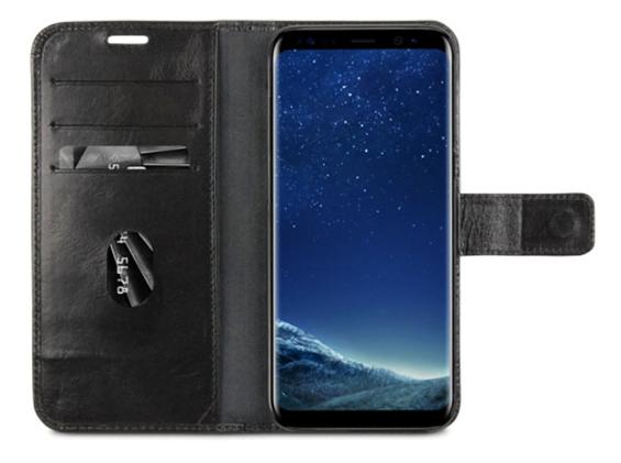 dbramante1928 Copenhagen Book Case Zwart voor Samsung Galaxy S8