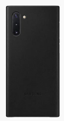 Samsung Galaxy Note10 Leather Cover Black