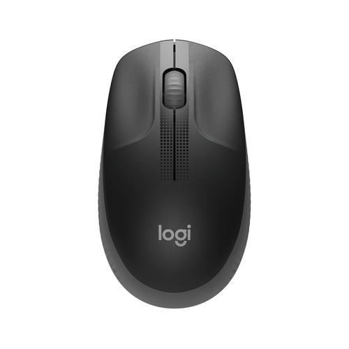 Logitech Mouse M190 Ambidextrous RF Wireless Optical 1000 DPI Black