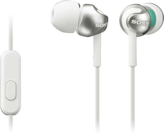 Sony In-Ear Headphone SONMDREX110APW.CE7 White
