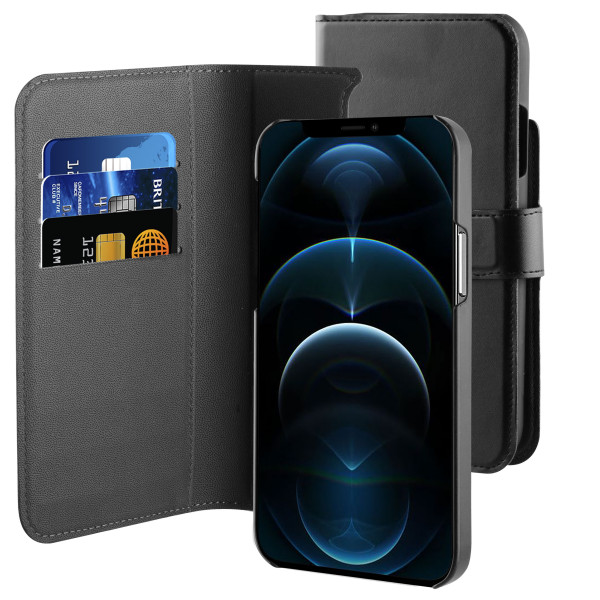 BeHello iPhone 12 2-in-1 Wallet Case Black