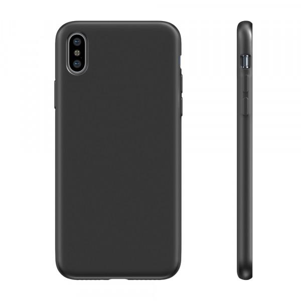 BeHello Liquid Silicon Case Zwart voor iPhone Xs Max