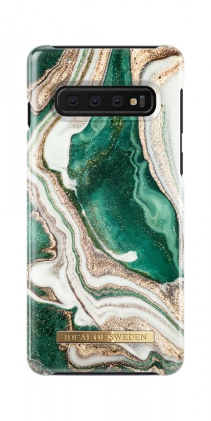iDeal of Sweden Samsung Galaxy S10 Fashion Back Case Golden Jade Marble