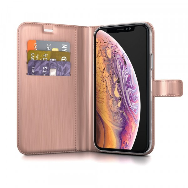 BeHello Gel Wallet Case Roze voor iPhone X Xs