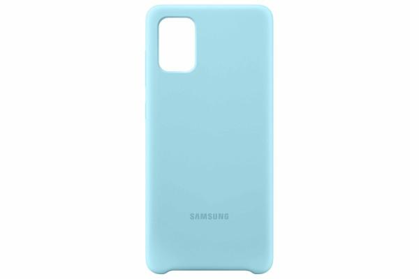 Samsung Galaxy A71 Silicone Cover Case Blue