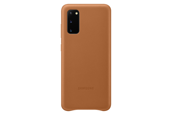 Samsung Galaxy S20 Leather Cover Brown