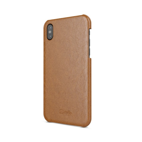 BeHello iPhone Xs X hoesje Back Case Bruin