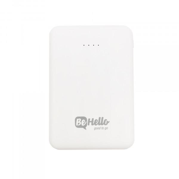 BeHello Powerbank 5000mAh Compact Size 2 USB White