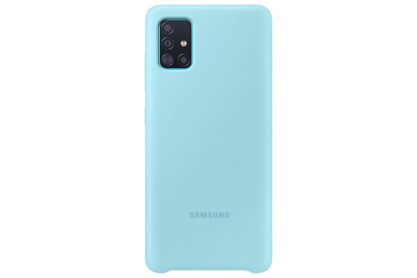 Samsung Galaxy A51 Silicone Cover Case Blue