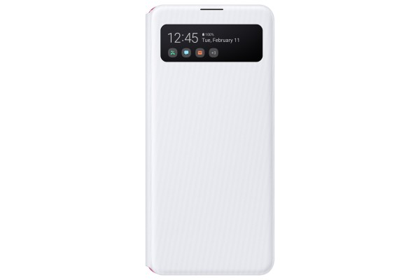 Samsung Galaxy A41 S View Wallet Cover Case White