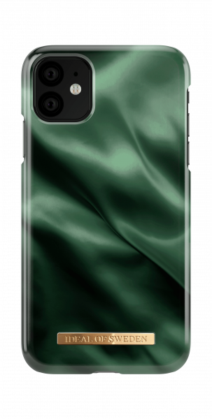 iDeal of Sweden iPhone 11 Fashion Case Emerald Satin
