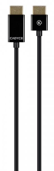 Cadyce High Speed HDMI kabel 4K, 3D en Full HD Extra dunne kabel Ethernet 24K Goud Geplateerd 5