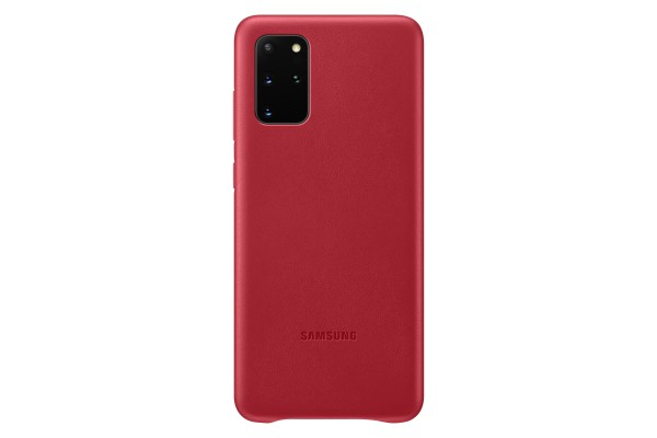 Samsung Galaxy S20+ Leather Cover Red