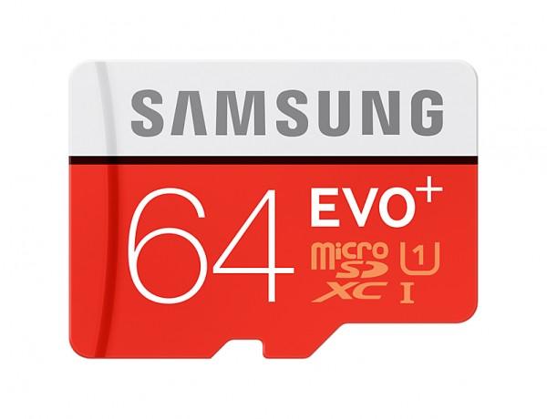 Samsung Micro SD 64GB EVO+ w SD Adapter Class 10