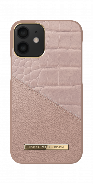 iDeal of Sweden iPhone 12 mini Fashion Back Case Rose Smoke Croco