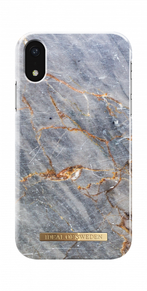 iDeal of Sweden iPhone Xr Fashion Back Case Royal Grey Marble