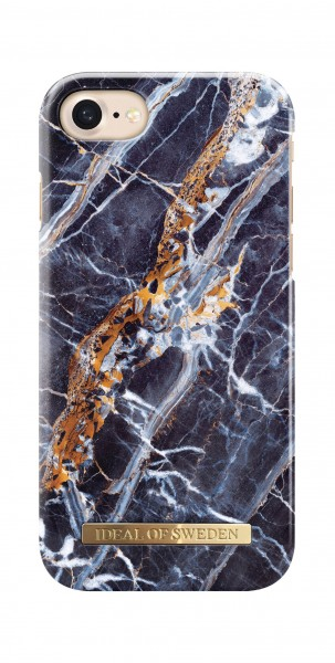 iDeal of Sweden Fashion Back Case Midnight Blauw Marble voor iPhone 8 7